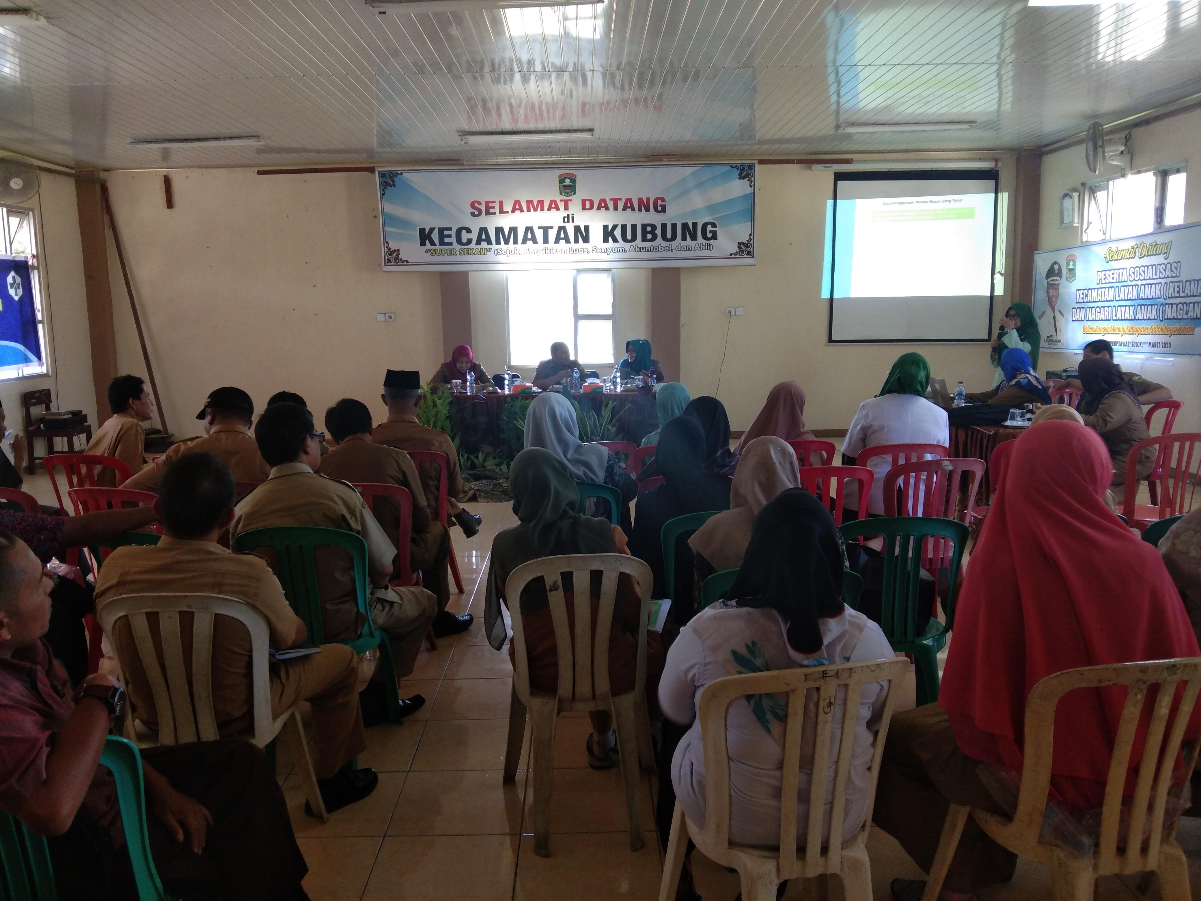 Sosialisasi Kecamatan Layak Anak dan Nagari Layak Anak menuju Kabupaten Layak Anak Tahun 2020